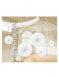 Kit de décoration en papier 18 pièces blanc