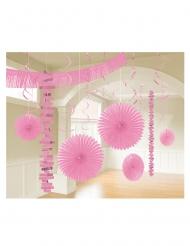 Kit de décoration en papier 18 pièces rose