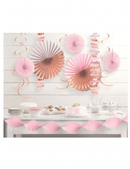 Kit de décoration en papier 14 pièces rose gold