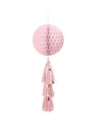 Décoration à suspendre alvéolée et tassels rose gold 71 cm
