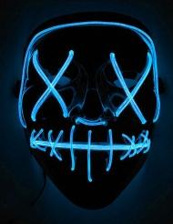 Masque led lumineux bleu adulte