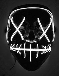 Masque led lumineux blanc adulte