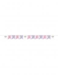 Bannière en carton baby shower licorne féerique 2,1 m