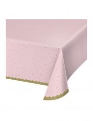 Nappe en plastique cygne royal rose 137 x 259 cm