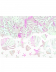 Confettis de table coquillages iridescents 23 g