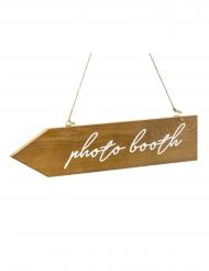 Pancarte directionnelle en bois photobooth 36 x 7,5 cm