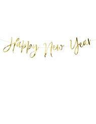 Guirlande en carton happy new year dorée 66 x 18 cm
