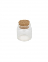 Fiole en verre bouchon liège 4,5 x 5,5 cm