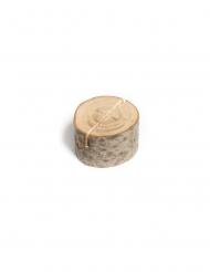 9 Marque-places rondins en bois entre 2 et 4 cm