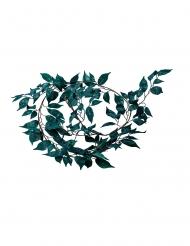 Guirlande de feuilles en tissu émeraude paillettes vertes 150 cm