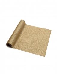 Chemin de table étincelant pailleté doré 30 cm x 3 m