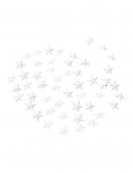 50 Etoiles décoratives paillettes blanches 2 cm