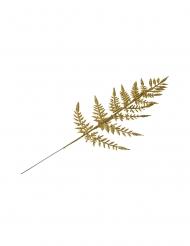 4 Branches fougères paillettes dorées 40 cm