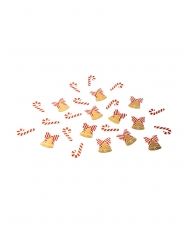 Confettis de table sucre d'orge et cloche 2 x 3 cm