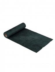 Chemin de table en velours vert sapin luxe 30 cm x 2,5 m