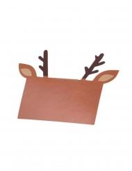 8 Marque-places en carton rudolph 10 x 12 cm