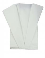 5 Feuilles de soie blanches 50 x 70 cm
