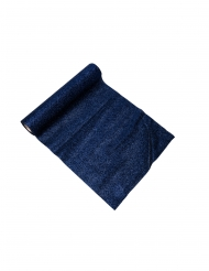 Chemin de table étincelant bleu marine 3 m