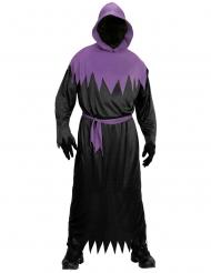Déguisement faucheur noir et violet adulte