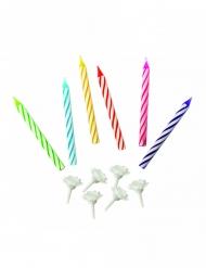 20 Bougies multicolores