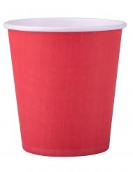 25 Gobelets en carton rouge 200 ml