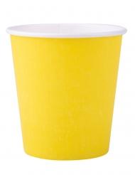 25 Gobelets en carton jaune 200 ml