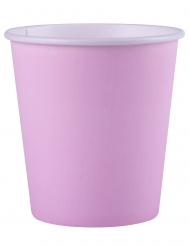 25 Gobelets en carton biodégradable rose pastel 200 ml