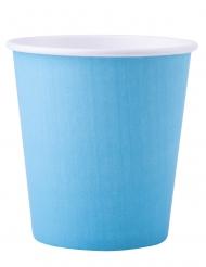 25 Gobelets en carton bleu pastel 200 ml