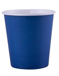 25 Gobelets en carton bleu marine 200 ml