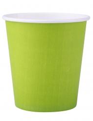 25 Gobelets en carton vert anis 200 ml