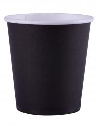 25 Gobelets en carton noir 200 ml