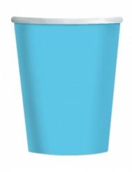 25 Gobelets en carton bleu ciel 200 ml