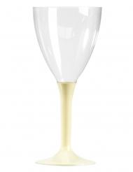 10 Verres à vin pied ivoire 160 ml