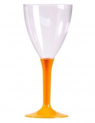 10 Verres à vin pied mandarine 160 ml