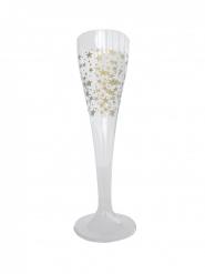 6 Flûtes à champagne étoiles or 100 ml