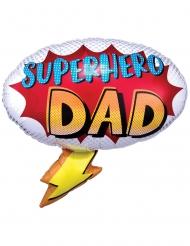 Ballon aluminium superhero dad 68 x 66 cm
