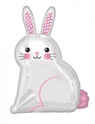 Ballon aluminium mignon petit lapin blanc 40 x 55 cm