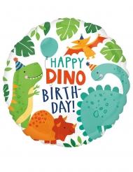 Ballon aluminium happy birthday dinosaure 43 cm