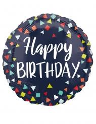 Ballon aluminium happy birthday cotillons 43 cm