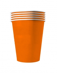 20 Gobelets américains carton recyclable orange 53cl