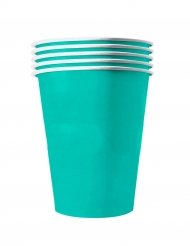 20 Gobelets américains carton recyclable turquoise 53 cl