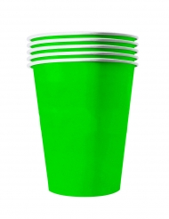 20 Gobelets américains carton recyclable verts 53 cl