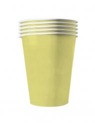20 Gobelets américains carton recyclable jaune pastel 53 cl