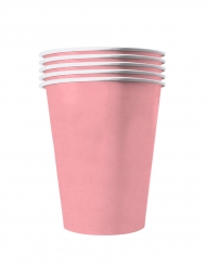20 Gobelets américains carton recyclable rose pastel 53 cl