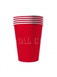 20 Gobelets américains carton recyclable rouges 25 cl