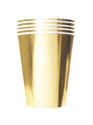 20 Gobelets américains carton recyclable or 53 cl