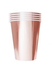 20 Gobelets américains carton recyclable rose gold 53cl