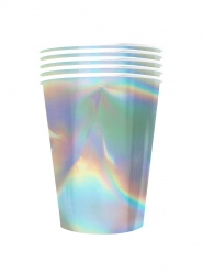 20 Gobelets américains carton recyclable rainbow iridescent 53 cl