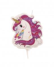 Bougie d'anniversaire licorne magique 7,5 cm