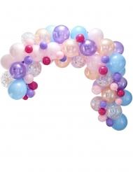 Kit arche de 80 ballons en latex pastel